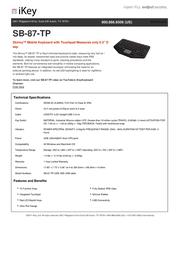 iKey Skinny SB-87-TP Fascicule