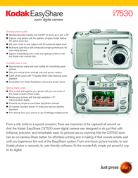 Kodak EASYSHARE CX7530 3907490 User Manual