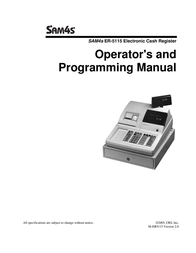 SAM4S Cash Register ER-5115 User Manual
