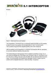 Raptor Gaming ZockerShirts 5.1 Interceptor 704 User Manual