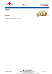 Monacor NTA-706SG 06.2840 Leaflet