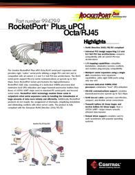 Comtrol RocketPort Plus uPCI Octa RJ45 99429-9 Leaflet