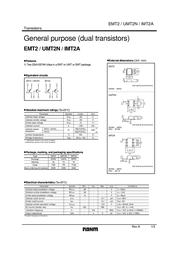 Rohm Semiconductor IMT2AT108 Bipolar Transistor Emitter reverse voltage U(CEO) -50 V IMT2AT108 Data Sheet