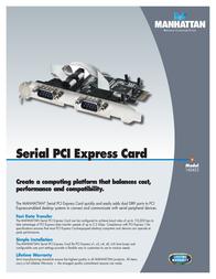 Manhattan Serial PCI Express Card 160452 Leaflet