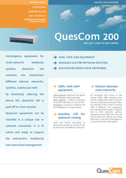 Quescom 200 Q212-2G-IP Product Datasheet