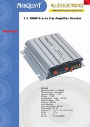 Marquant MCA-200 Leaflet