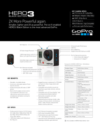 GoPro HERO3: Black Edition 130-01534-000 Leaflet