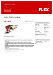 Flex ODE 100-2 379.050 Leaflet