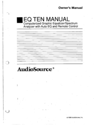 AudioSource Universal Remote Computerized Graphic Equalizer User Manual