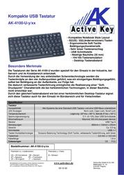 Active Key AK-4100 AK-4100-U-B/CH Leaflet