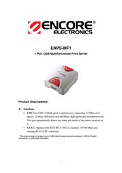 ENCORE ENPS-MF1 Leaflet