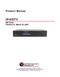 Contemporary Research IP IP-HDTV User Manual