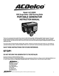ACDelco AC-G0002 User Manual