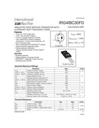 International Rectifier IRG4IBC30FD IGBT N channel TO 220 11A 600V IRG4IBC30FD Data Sheet
