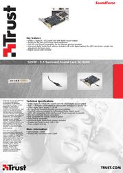 Trust 5.1 Surround Sound Card SC-5200 12949 Leaflet