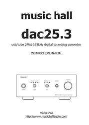 Music Hall DAC 25.3 Black USB Digital Audio Converter DAC 25.3 Black User Manual