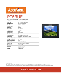 """Accuview 15"""" PT5RUE Leaflet"""