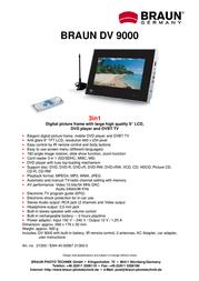 Braun Photo Technik DigiFrame DVBT 9000 21300 Leaflet