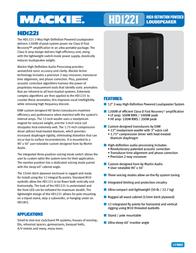Mackie HD1221 2034680-01 User Manual