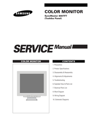 Sierra Wireless SyncMaster 800TFT User Manual