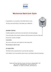 Dualit Mechanical Leaflet