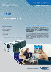 NEC MultiSync LT170 50024092 Leaflet