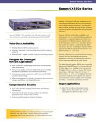 Extreme networks Summit X450e-24p 16142 Data Sheet