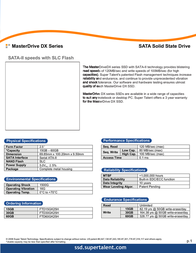 Super Talent Technology 60GB MasterDrive DX SATA-II 25 FTD60GK25H User Manual