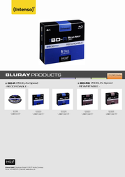 Intenso BD-R 25GB, 4x Speed - RECORDABLE 5001215 Leaflet