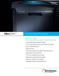 Stratasys Objet Eden500V OBJET EDEN500V Leaflet