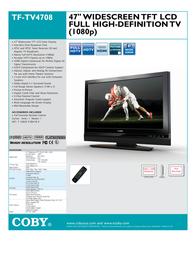 Coby TFTV4208 Leaflet