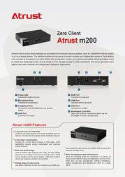 Atrust m200 M200 Leaflet