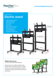 PresTop PT-M-LIFT Black - Electric lift PT-M-LIFT-B Leaflet