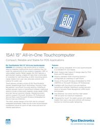 ELO Digital Office 15A1 Touchcomputer E991102 Leaflet
