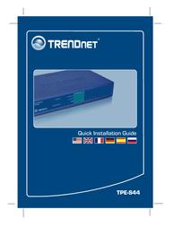 Trendnet TPE-S44 User Manual