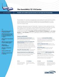 SonicWALL TZ 170 10 Node 01-SSC-5556 User Manual