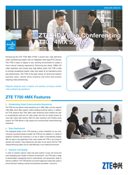 ZTE ZXV10T700-4MX Leaflet