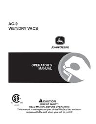 John Deere SA AC-9 User Manual