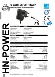 Hn Power USB charger Mains socket HNP06-MicroUSB-C Micro USB 1 x 1200 mA HNP06-MicroUSB-C User Manual