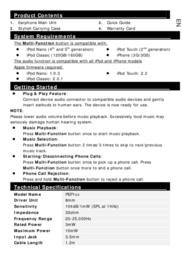 Prestigio PEP1 PEP1BR Leaflet