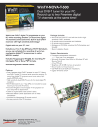 Hauppauge WinTV-NOVA-T-500 00282 Leaflet