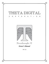 Theta Digital Dreadnaught II User Manual