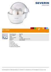Severin EK 3050 EK3050 Leaflet