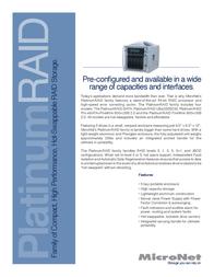 Micronet Platinum RAID PR2500SATA Leaflet