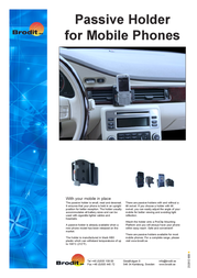 Brodit Passive Holder,Tilt Swivel 875256 Leaflet
