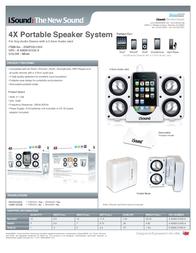 iSound 4X Portable Speaker System DGIPOD-1555 Leaflet