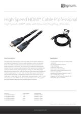Zignum HDMI K-HDE-BKR-0300.BS Leaflet