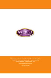 Nostalgia Electrics EQM-200 User Manual