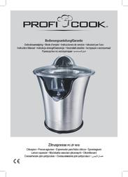 ProfiCook ZP 1018 501018 Data Sheet