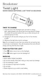 Brookstone Twist Light 606013 Leaflet